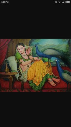 Indian Women Painting, Indian Paintings, Indian Art, Pineapple Drawing, Rajasthani Painting, Woman Painting, Art Oil, Female Art, Art Images