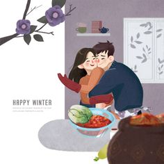 #christmas   #couple   #home   #winter   #cooking   #image   #illustration   #stockimage   #iclickart   #npine
