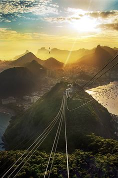view from the (almost) top. sugarloaf mountain (rio de janeiro) #travelcolorfully