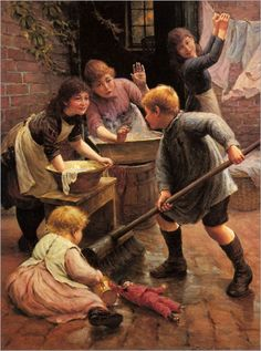 Washing Day - Thomas Liddell Armitage (british painter)