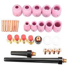 31Pcs Set TIG Welding Regular & Gas Lens Kit 0.040''~1/8'' For Torch 9/20/25 T24