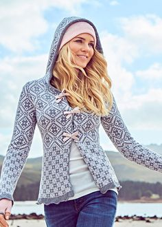 Odd Molly Cardigan grå mønstret 117M-104 Le Knit Cardigan - grey – Acorns