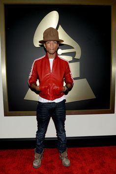 0258335d The Many Phases of Pharrell Williams. Pharrell WilliamsRed LeatherLeather  JacketVivienne WestwoodHatsJacketsStyleFashionIvy