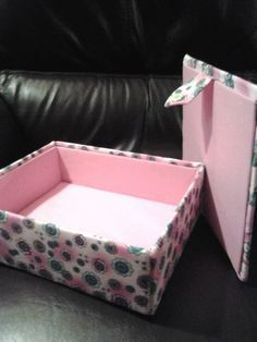 lids and box fabric covered box-good tut but sews sides instead of gluing