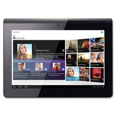 """Sony Tablet streams millions of songs, downloads the latest movies from Sony Entertainment Network, is a PlayStation certified device and acts as your universal remote control all on a fluid 9.4"""" touch screen with 1280 x 800 resolution and vibrant TruBlack display. The comfortable design fits easily in your hand. Wi-Fi ready (802.11a/b/g/n) tablet is also equipped with an Android operating system, Bluetooth connectivity (2.1plus EDR), IR support, RAM memory of 1 GB and a storage capacity of…"""