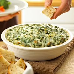 Spread the love            1 box (10 oz.) Birds Eye® Chopped Spinach, cooked, drained, cooled and squeezed dry 1 cup Hellmann's® or Best Foods® Real Mayonnaise 1/2 cup sour cream 3/4 cup, divided grated Parmesan cheese 2 cloves garlic, finely chopped 1 tomato, diced (optional) 1 green onion, sliced (optional) Click HERE for full recipe. Spread the...Read More »