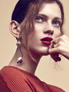 Carolin Sunderhauf by Mikael Schulz for Elle Sverige Beyond Beauty, Next Top Model, Light Hair, You're Beautiful, Female Portrait, Septum Ring, Hair Makeup, London, Sweden