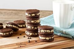 Cookie Dough Oreos • Paleo, grain-free, gluten-free, dairy-free, soy-free by #livinghealthywithchocolate