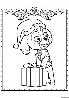 Paw Patrol Coloring Pages Christmas Printables Children