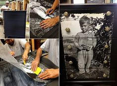 Decoupage Photo Dresser