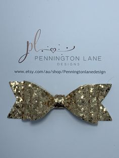 3 Gold Chunky Glitter Hairbow on Alligator Clip One More Step, Hairbows, Glitter, Trending Outfits, Unique Jewelry, Handmade Gifts, Gold, Etsy, Kid Craft Gifts