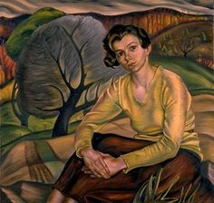 Prudence Heward: Girl in Yellow Sweater, oil on canvas, x dated 1936 Collection of the National Gallery of Canada Canadian Painters, Canadian Artists, Art Inuit, Art Society, Art Database, Oil Painting Reproductions, Yellow Sweater, Figure Painting, Figurative Art