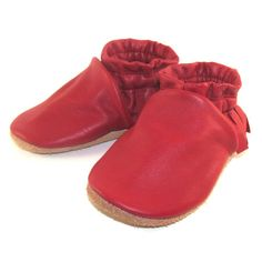 Soft Sole Eco Friendly Red Leather Baby Shoes by KaBoogie on Etsy, $32.00