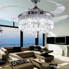 2019 Led Ceiling Fans Light Ac Invisible Blades Ceiling Fans Modern Fan Lamp Living Room Bedroom Chandeliers Ceiling Light Pendant Lamp From intended for Lights In Living Room Ceiling - Home Design Ideas Modern Bedroom Ceiling Lights, Light Fixtures Bedroom Ceiling, Living Room Ceiling Fan, Ceiling Fan Chandelier, Modern Ceiling, Ceiling Fans, Bedroom Chandeliers, Chandelier Ideas, Room Lights