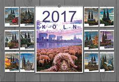 ART Fotokalender  DIN A3   Kunst Art Kalender von Schönen Ölbilder auf Leinwand mit Blattsilber. Für die Liebhaber der Architektur und Malerei, als Geschenk gut geeignet.  Hochwertiger Qualitätsdruck glänzend Metall-Spiralbindung Foliendeckblatt Hochkant