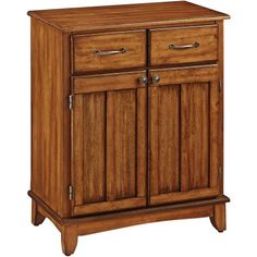 Home Styles Buffet of Buffets with Wood Top, Brown