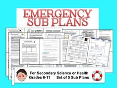 5 Awesome sub plans for secondary science. No more stressin' n' scramblin'!