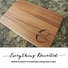Wedding Cutting  Board Gift Wedding Gift by EverythingDecorated