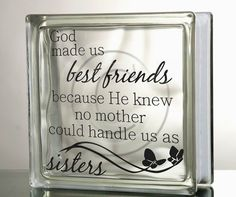 Glass Block Decal DIY God made us best by VinylDecorBoutique, $5.00