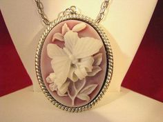 Butterflies Are Beautiful Necklace cameo white ruby by jewelrybyjg, $22.05 after discount