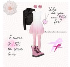 """Who Do You Wear Pink For?"" by cristina-elena-poschl on Polyvore"