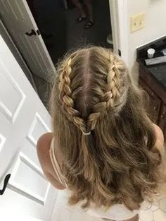 braided hairstyles hairstyles with clip in extensions hairstyles diy braided hairstyles for 5 year olds dance hairstyles hairstyles in two hairstyles with shaved sides and back hairstyles naija Dance Hairstyles, Teen Hairstyles, Pretty Hairstyles, Braids With Curls Hairstyles, Simple Homecoming Hairstyles, Simple Braided Hairstyles, Curled Hairstyles For Medium Hair, Birthday Hairstyles, Relaxed Hairstyles