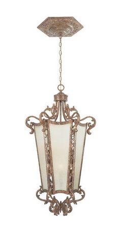 Designers Fountain Lighting 98552 VLG Torino Collection Six Light Hanging Pendant Chandelier in Valenica Gold Finish