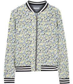 floral silk bomber jacket