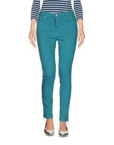 Denim Studs Logo Solid color Colored wash Mid rise Front closure Button Zip Multipockets Zips at hem Stretch Slim fit Pantsuits For Women, Denim Pants, Slim Fit, Capri Pants, Skinny Jeans, Zip, Cotton, Collection, Turquoise Color