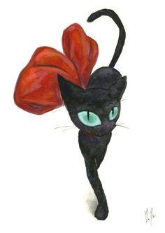 "Linda ""Jiji"" do ilustrador Martin Hsu - via @CatSouvenir"