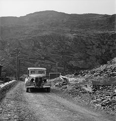 Art treasures from the National Gallery are moved to Manod Quarry slate caverns in Merionethshire, Wales, for safekeeping during World War II, September 1942.