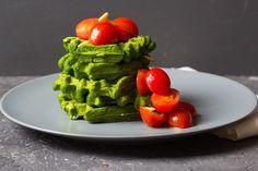 Bärlauchwaffeln via lunchforone.de (wild garlic waffles)