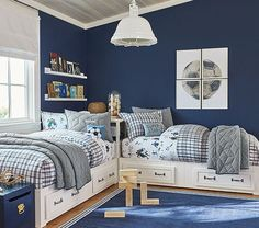 Shop Pottery Barn Kids' Vintage Sports Shared Room for shared bedroom ideas and inspiration. Find furniture, bedding and more that will be perfect for siblings sharing a room. Boys Bedroom Decor, Childrens Room Decor, Bedroom Sets, Girls Bedroom, Bedroom Furniture, Furniture Sets, Kids Furniture, Plywood Furniture, Cheap Furniture
