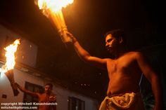 Indian culture - firelight at Theyyam performance.jpg
