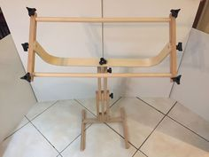 Frank A Edmunds Stitchers Wonder Adjustable Split Rail Scroll Frame w/ Stand #FrankAEdmunds
