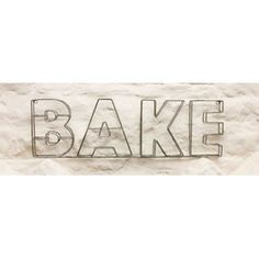 Large Parisian Bake Metal Sign - from eggcup & blanket UK Industrial Chic Kitchen, Wire Art, Metal Signs, Parisian, Home Accessories, Blanket, Baking, Retro, Modern