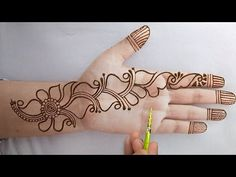 Henna Hand Designs, Mehndi Designs Finger, Latest Arabic Mehndi Designs, Simple Arabic Mehndi Designs, Mehndi Designs Book, Mehndi Designs For Beginners, Mehndi Designs For Girls, Mehndi Design Photos, Mehndi Designs For Fingers