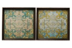 Asst. of 2 Baroque Square Trays