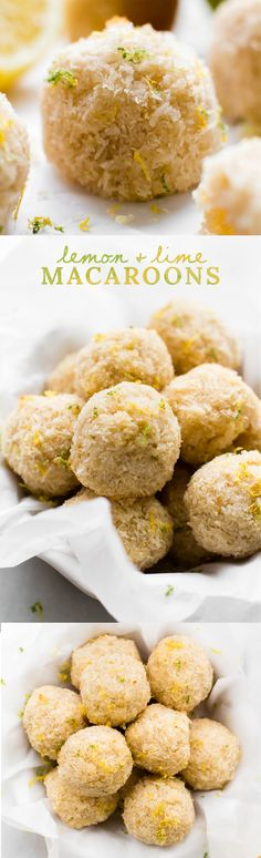 Naturally sweet coconut complimented by the the bright citrus combination of lemon and lime makes these macaroons a perfect sweet simple 5-ingredient snack!
