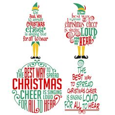 Christmas Cheer Elf Christmas Svg Cuttable Design Free File - Buddy The Elf Christmas Svg, Christmas Quotes, Christmas Design, Christmas Projects, Christmas Ideas, Christmas Pictures, Christmas Vinyl Crafts, Christmas Messages, Christmas Printables