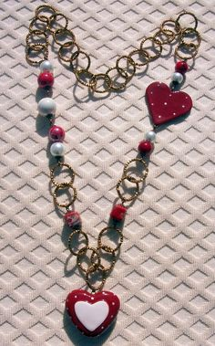 Sensual red love necklace pois....40 Euro shipping included to Europe.