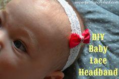DIY baby lace headband tutorial