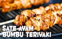 Resep Sate Ayam Bumbu Teriyaki Sedap - http://www.rancahpost.co.id/20150837594/resep-sate-ayam-bumbu-teriyaki-sedap/