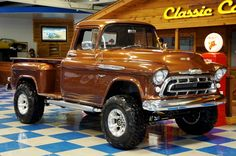 57 Chevrolet 3200 Lifted Pickup - Rootbeer Metallic