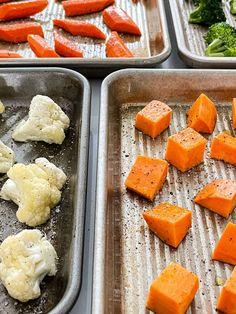 7 Easy Oven Roasted Vegetable Recipes - Garnish with Lemon Roasted Vegetable Recipes, Baked Vegetables, Fresh Vegetables, Veggies, Lemon Recipes, Apple Recipes, Side Dishes Easy, Side Dish Recipes, Oven Roast