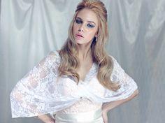 White lace shawl for bride