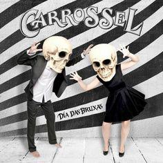 Los muertos felices. #Photo, #Ilustration, #skulls, #carrossel Happy, Carousel, Halloween, Creativity, Death