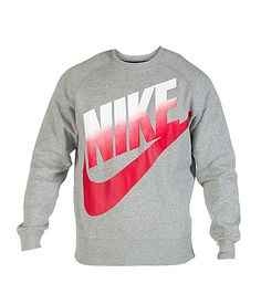 NIKE Crew style sweatshirt Screen print NIKE logo with swoosh Fading color design Soft inner fleece Stretch material for ultimate comfort