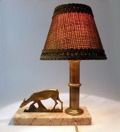Vintage desk lamp. French desk lamp. Art deco desk by LaBonneVie72