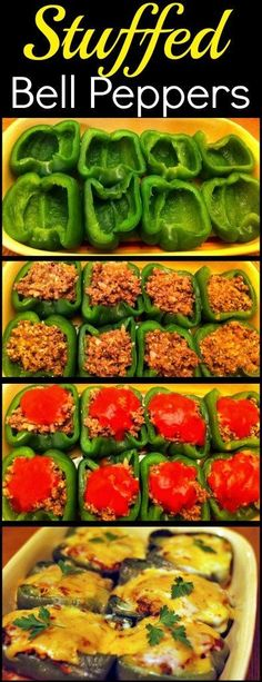 Stuffed Bell Peppers These Stuffed Peppers are one of my favorite recipes! A great one to prep ahead of time then just pop in the oven in time for dinner! The post Stuffed Bell Peppers & Let& Eat! appeared first on Food . My Favorite Food, Favorite Recipes, Clean Eating, Healthy Eating, Healthy Meals, Easy Meals, Healthy Food Prep, Kebabs, Casserole Dishes